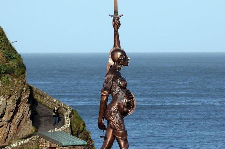 Hands Down, the most amazing statue honoring women as mothers and warriors EVER!!!!  Devon seaside town of Ilfracombe.