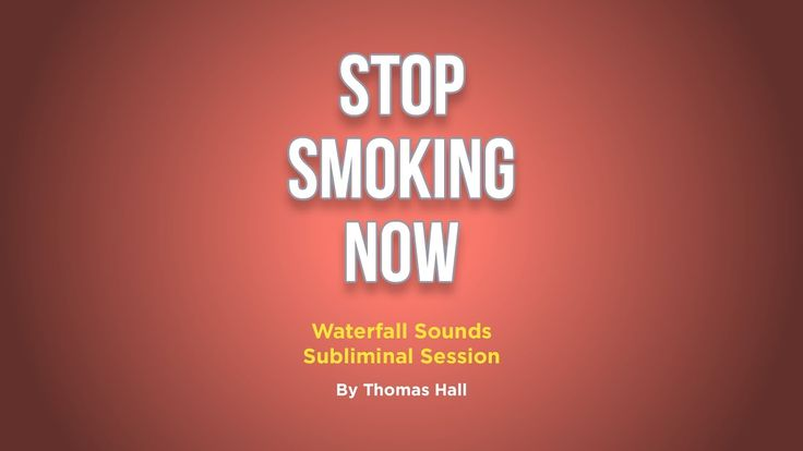 Stop Smoking Now - Waterfall Sounds Subliminal Session - By Thomas Hall