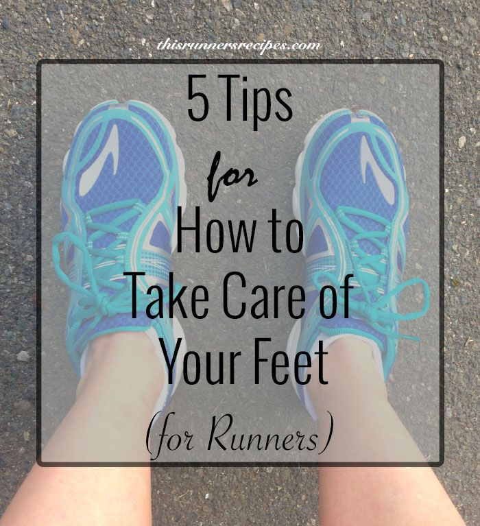 Avoid blisters, black toenails, and pain with these 5 tips on how to take care of your feet while training for any running race.