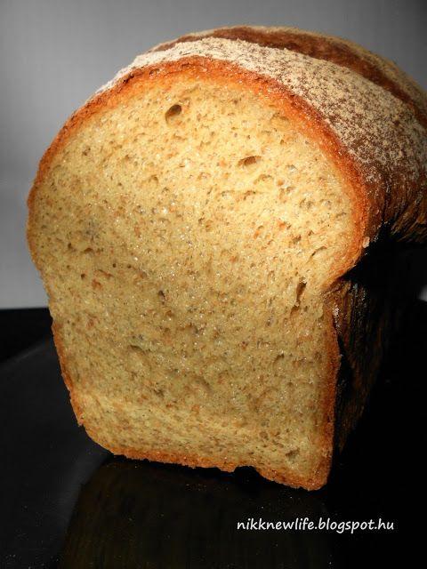 NEW LIFE - ÚJ ÉLET SZABADON, BOLDOGAN, FINOMAN : Teljes kiőrlésű kenyér formában - csak élesztővel