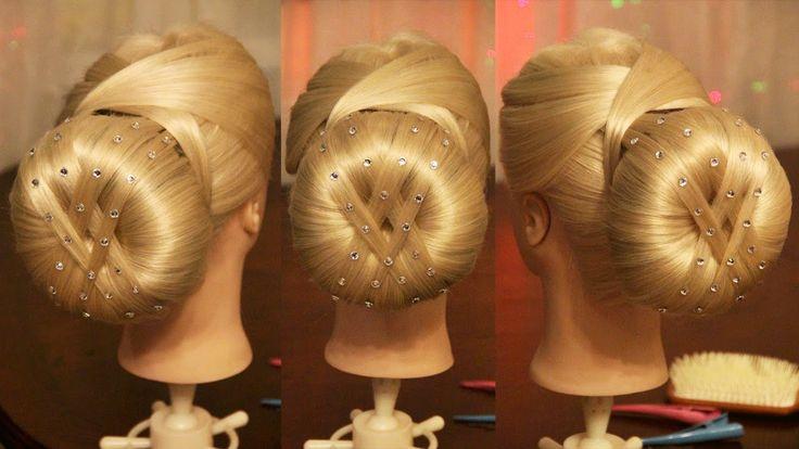 Причёска с валиком