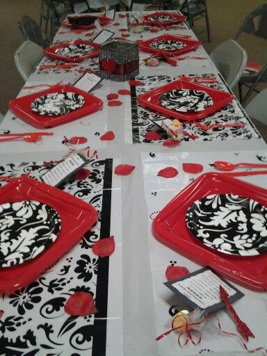 Valentines Day Table Decoration For Church Dinner Party Ideas