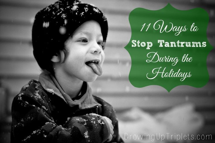 11 Ways to Stop Tantrums During the Holidays  www.GrowingUpTriplets.com  #toddlers #Christmas #tips