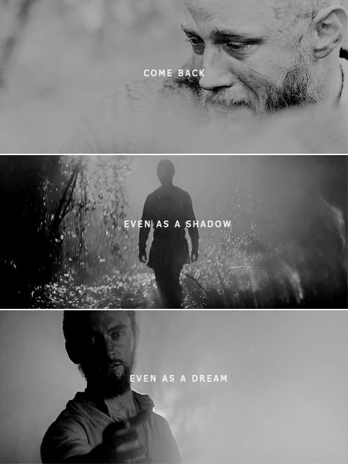 Ragnar + Athelstan: I ache from your loss. #vikings