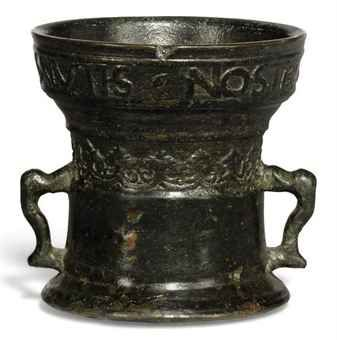 A TUDOR PERIOD BRONZE MORTAR  16TH CENTURY  Price realised  GBP 525