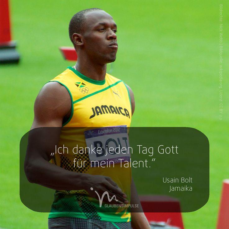 """OLYMPIA-IMPULS (4/17) Jeden Tag ein neuer Star.  """"Ich danke jeden Tag Gott für mein Talent."""" Usain Bolt (Jamaika)  #olympiaimpulse #sport #glaubensimpulse #im #rio #brasil #brasilien #usainbolt #bolt #jamaika #jamaica"""
