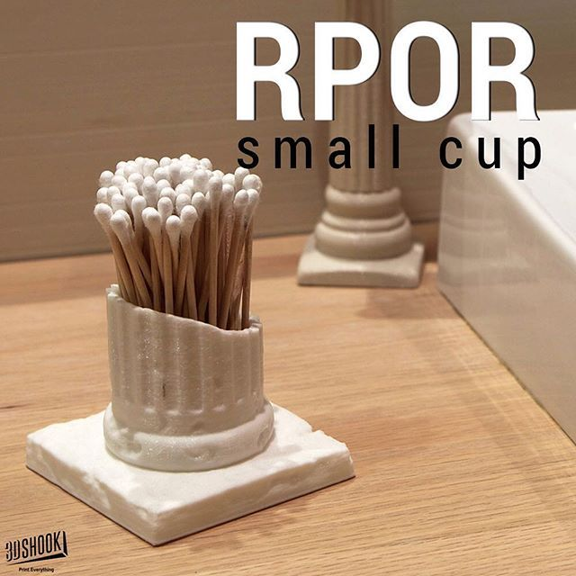 "@3dshookcollections's photo: ""the Random Pile of Ruins collection - use this ancient rubble as a cool cup to hold ear cotton! Check us out at www.3dshook.com #3dprint #3dmodels #3dprinted #3dprinter #3dprinters #3dprinting #PrintEverything #tech #technology #makers #makersgonnamake #bathroomdesign #bathroom #ancientruins #decor #qtips #beauty"""