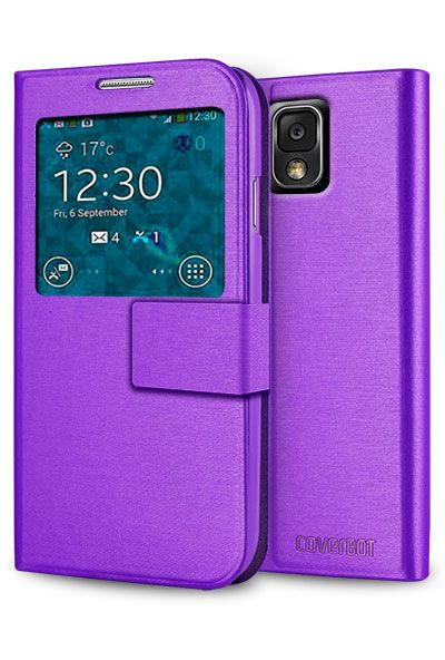 Coverbot Samsung Galaxy Note 3 S View Flip Wallet Case
