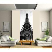 Striscia di carta da parati solo Torre Eiffel in bianco e nero moderno