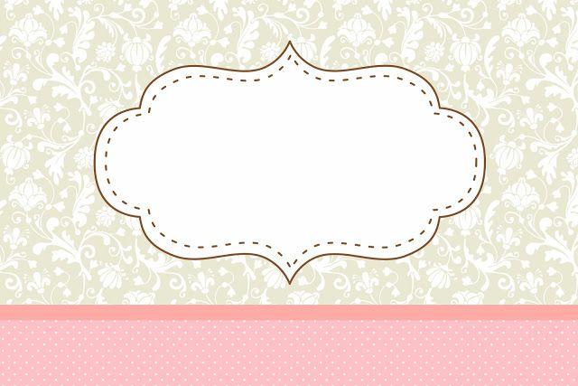 Poá Rosa e Cinza Floral Vintage – Kit Completo com molduras para convites, rótulos para guloseimas, lembrancinhas e imagens!  Fazendo a Nossa Festa