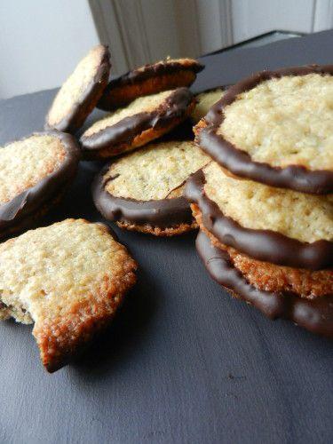 Galettes suédoises à l'avoine et chocolat (Havreflarn) ou galette Ikéa! faciles.