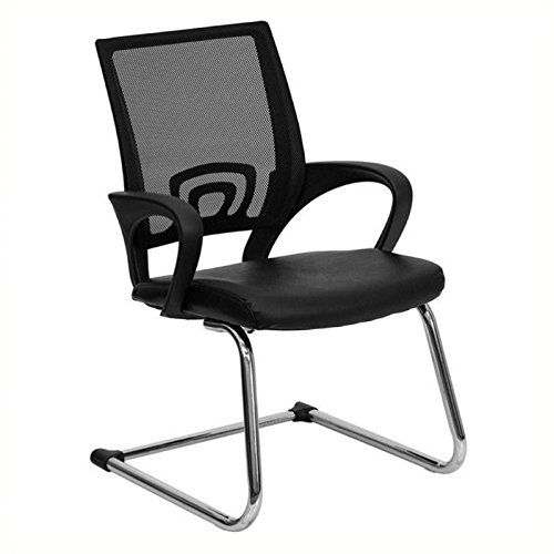 scranton and co mesh back office guest chair in black