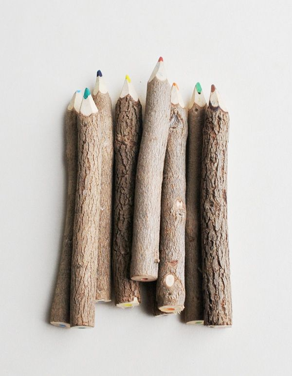 Pencil Love - great outdoors in creating form: Twig Colors, 4 Minis Twig, 4Mini Twig, Colour Pencil, Twig Pencil, Colors Pencil, Sticks Pencil, Carvings Colors, Colored Pencils