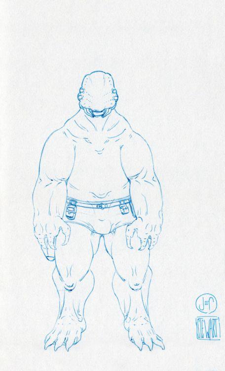 Challenge Day 180 Year 3  Zebra Z-Grip Med 0.5mm nib pen on Studio Sketchbook  Daily Character Design Challenge, 2017-11-21, Year 3 - No180b, by Jeff Stewart #creature #alien #365_day_challenge #oc #conceptart #CharacterDesign #CharacterChallenge #original_character #character_art #concept #challenge #drawing #sketch #line_art #lineart #line_drawing #linedrawing #art #artist #artists_on_tumblr #sci_fi #scifi #character_design #concept_art #character_challenge