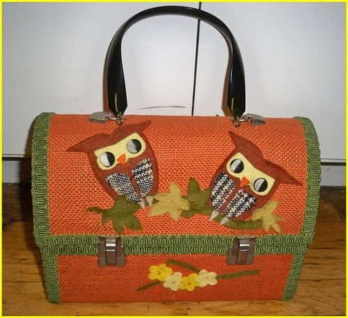 VINTAGE 60's LUNCH BOX PURSE: Awesome Purses, Lunch Boxes, Owl Purse, 60 S Lunch, Lunch Owl, Box Thermos, Vintage Purse