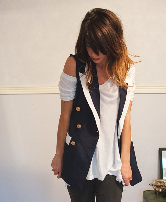 Hey, I found this really awesome Etsy listing at https://www.etsy.com/listing/206204440/vintage-nautical-vest-sailor-style-small