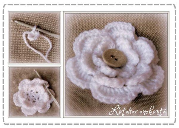 1000 id es sur le th me fleurs au crochet sur pinterest fleurs au crochet photos de l - Faire une boutonniere au tricot ...