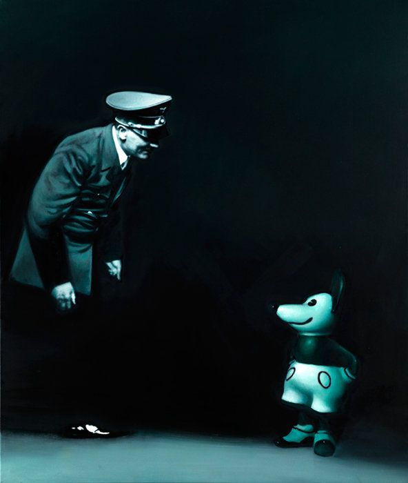 Untitled by Gottfried Helnwein mixed media (oil and acrylic on canvas)