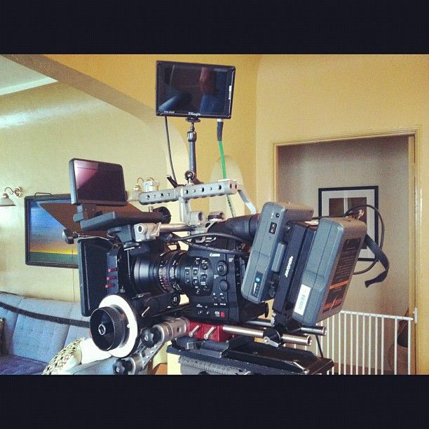 @mykespace : Prepping the #Canon #C500 for Mondays documentary film @aaronmorganstein