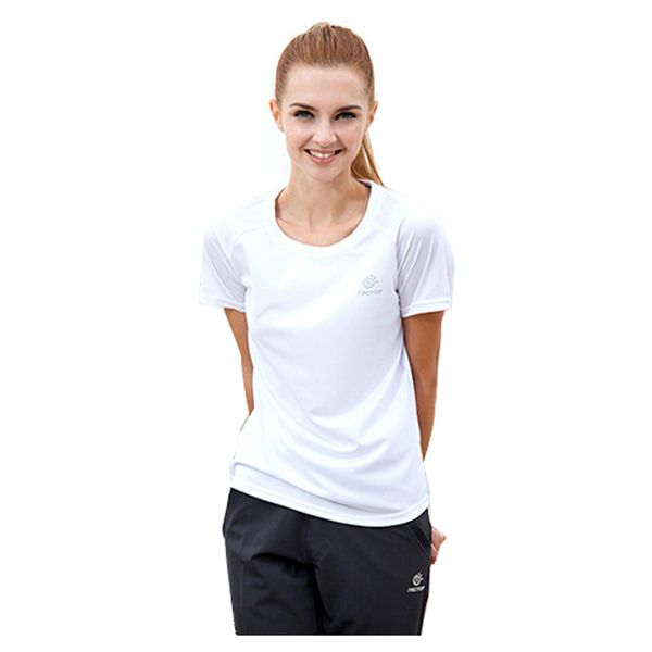 TECTOP WOMEN Running T-shirt Polyester O-hals Uv sneldrogend T-Shirts Badminton Voetbal Rafting Camping Strand T-Shirts Koppels