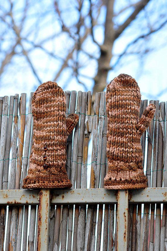 Hand  Warmer  Brown Wool Gloves . #winter_gloves #hand_gloves #chunky_gloves #knitted_gloves #brown_gloves #women's_gloves #Mittens_Gloves #Wool_Gloves #Warmer_Gloves #adult_gloves #soft_gloves #Christmas_Gifts #sweater_gloves