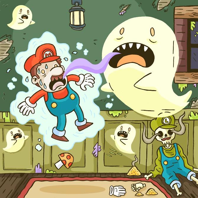 Super Mario by Sam Rennocks