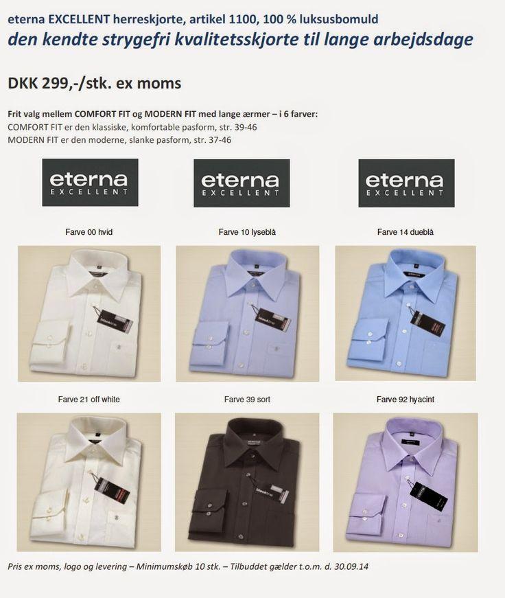 eterna strygefri skjorter på tilbud til firma
