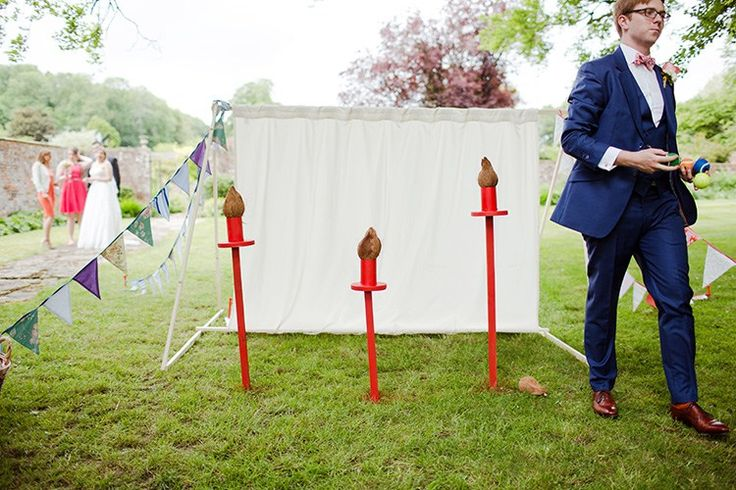 Coconut Shy Homespun Fun Cricket Fete Games Wedding http://www.ireneyapweddings.com/