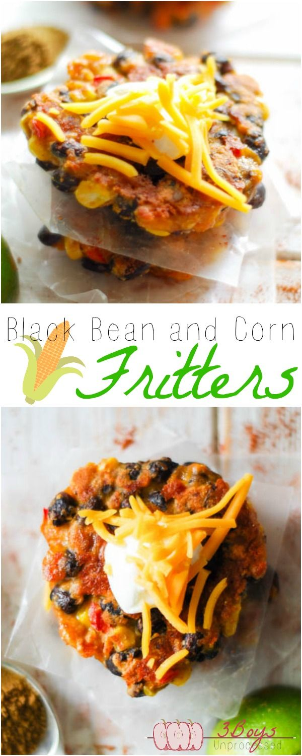 These healthy and delicious Black Bean and Corn Fritters come together in 30 minutes or less, are kid friendly, and can be eaten with sour cream. Need I say more?