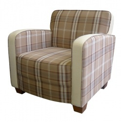 ROMA Classic Retro Style Armchair in Blendworth fabric