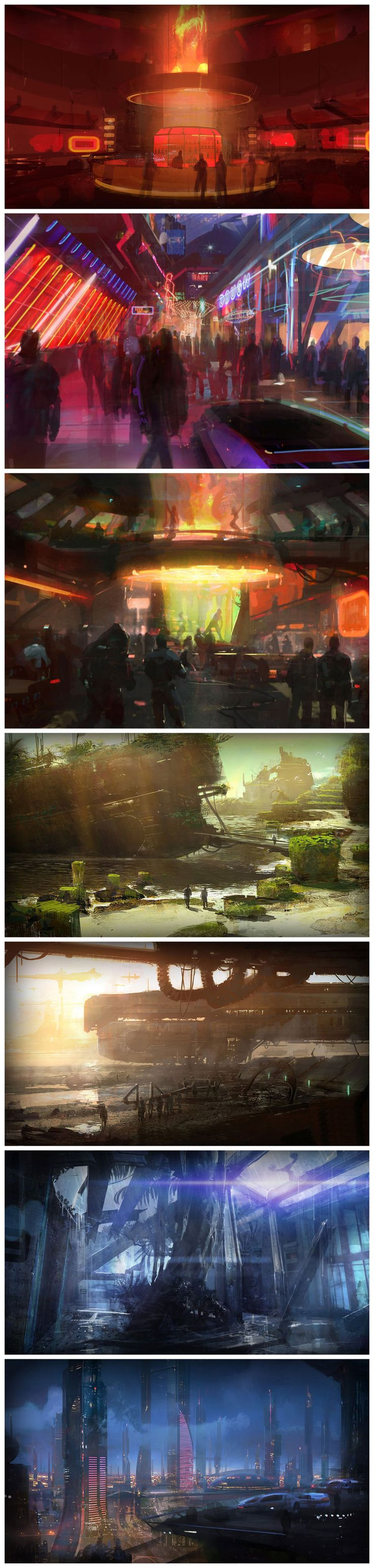 Mass Effect 2 - Environments. Futuristically gorgeous design.