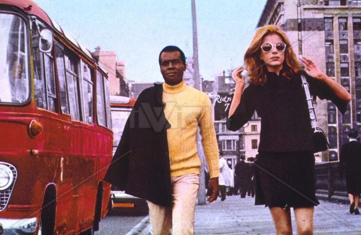 Sixties | Anita Sanders and Terry Carter in  Nerosubianco (Black On White), aka Attraction, 1969