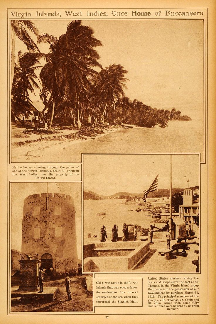 St Thomas Map Virgin Islands%0A This is an original      sepia rotogravure of the United States Virgin  Islands  Shown are