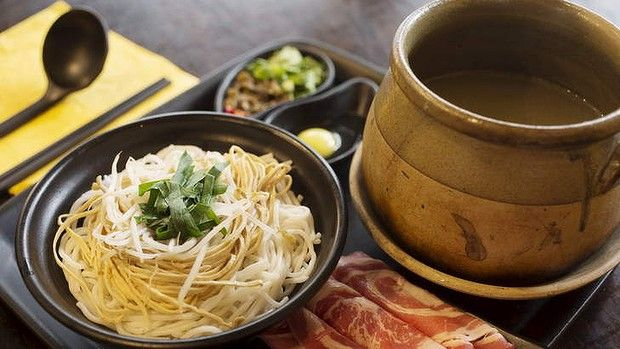 Yunnan signature rice noodle soup. 694 George Street, Haymarket, New South Wales