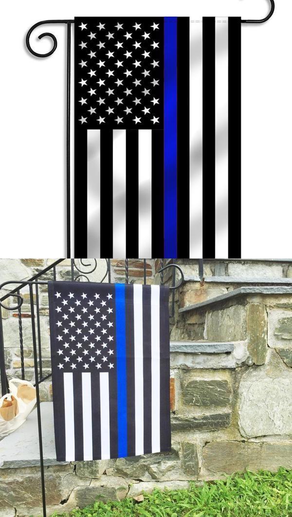 Thin Blue Line Garden Flag 12 5 X 18 Inches Thin Blue Lines Garden Flag Pole Garden Flags