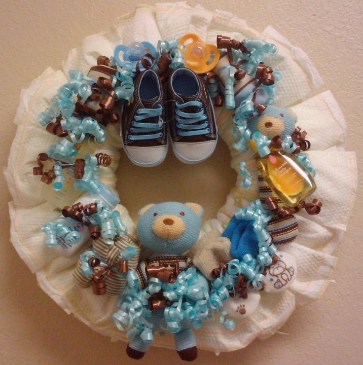 diaper wreath for baby boy