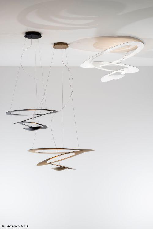 Suspension, ceiling, wall, black, gold, white, classic, micro, mini ...
