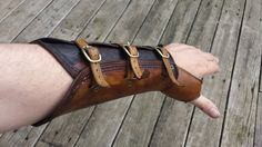 Genuine Tooled Leather Archery Bracer Larp by PeterHaynesLeather