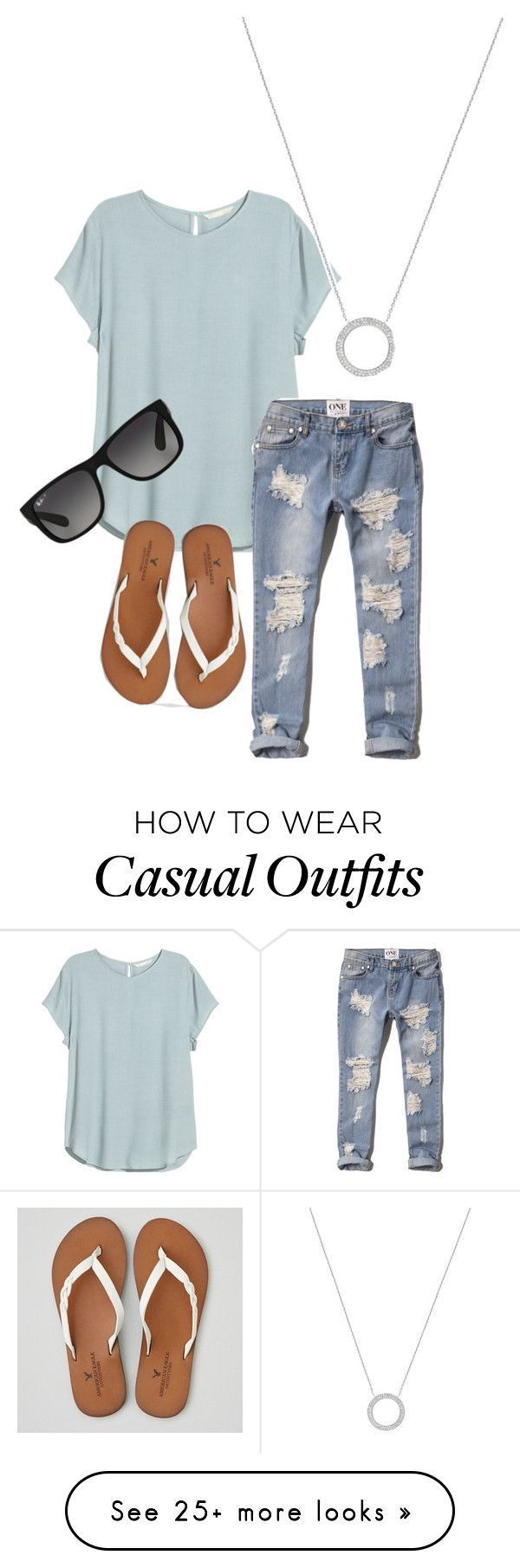 Casual by autumn-thiel on Polyvore featuring HM, Abercrombie Fitch, American Eagle Outfitters, Michael Kors, Ray-Ban, womens clothing, womens fashion, women, female and woman Clothing, Shoes & Jewelry : Women : Clothing :  http://amzn.to/2jHcXki