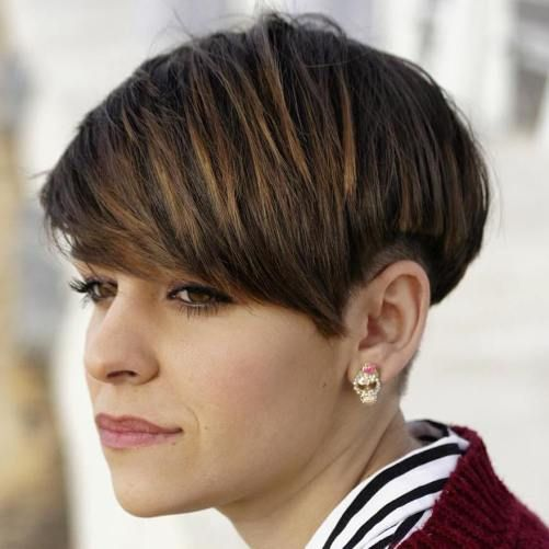 Brown Bowl Cut With Subtle Highlights