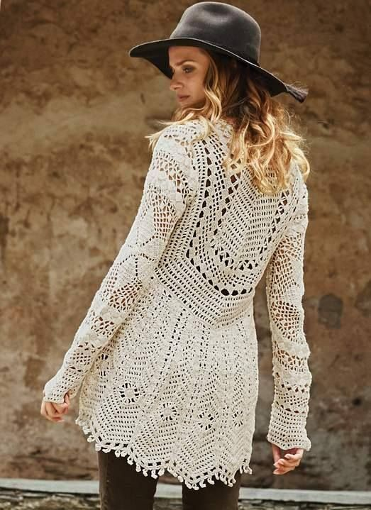 Blusa em Crochê Gráfico 3 - /  Crochet Blouse Graphic 3