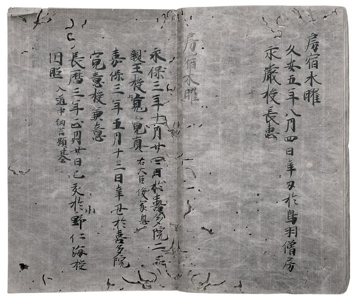 Kanjō yōshukuji (灌頂曜宿事 / Ordination and Star Signs), Kamakura period, 13th century, Book; ink on paper, 25 x 15.3 cm (9 7/8 x 6 in.) Donated to The Metropolitan Museum of Art, New York by the Mary and Jackson Burke Foundation in 2015