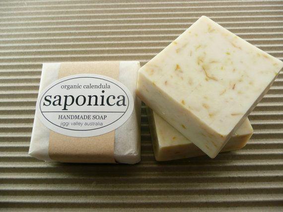 Handmade Natural Organic Calendula Soap by Saponica by saponica, $5.50