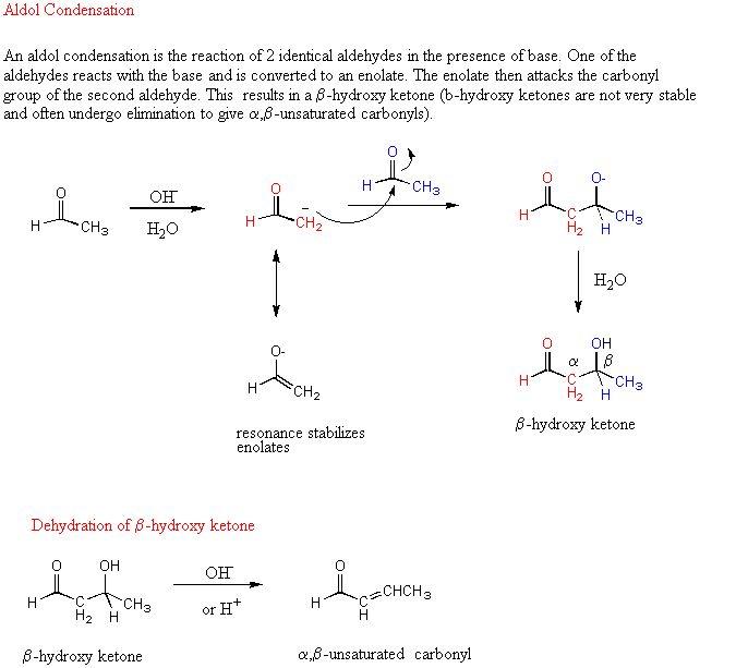 aldol condensation - Google Search