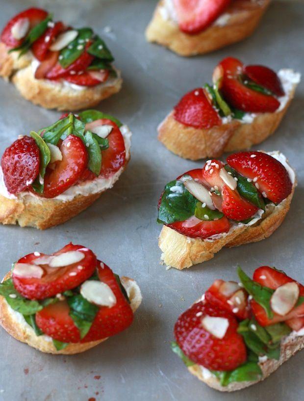 Strawberry-Spinach Bruschetta