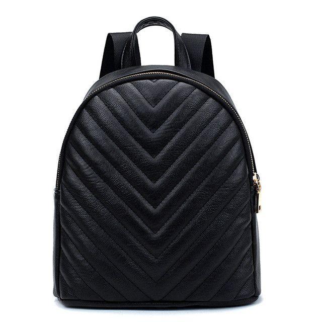 YUFANG Black Women Mini Backpack For Teenage Girls Fashion Small Backpacks Casual Female PU Leather School Daypack Bag