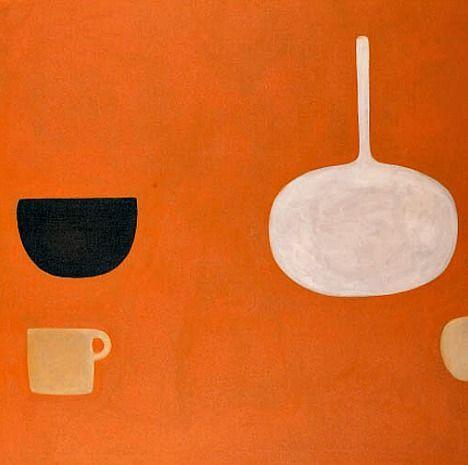 William Scott - Orange still life