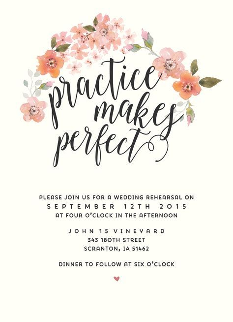 Boho Chic Rehearsal Dinner Invitation // SplashOfSilver Etsy Shop // Watercolor flowers Garden Wedding
