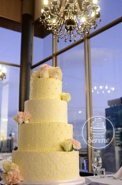 Buttercream classic elegant wedding cake