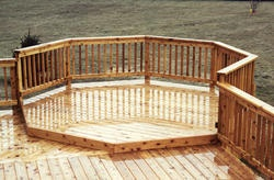 Creating a basic sqaure deck with an octagon add on to for How to build an octagon deck